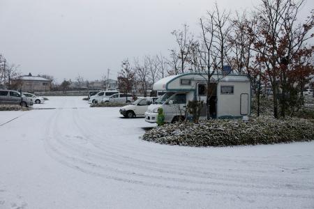 雪が積もってる(゚∀゚)