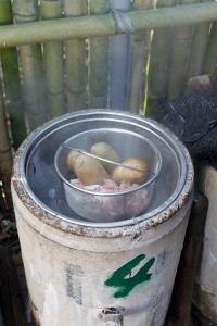 蒸し卵の完成