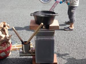ロケットストーブの試作品